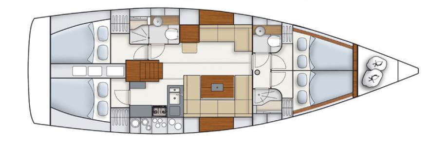Veduta della barca - Interna